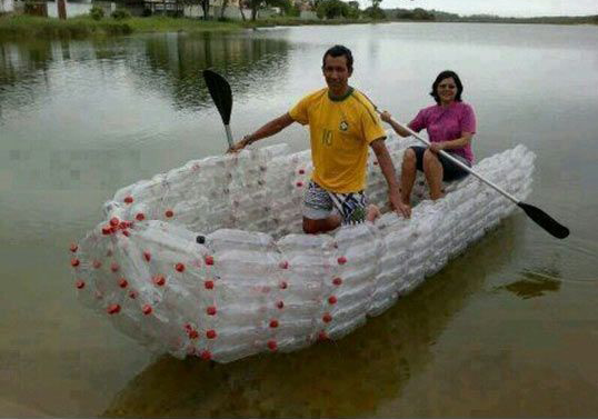 people recycling bottles